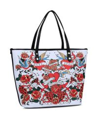 Love Moschino | White Large Fabric Bag | Lyst