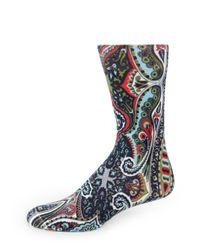 Etro   Multicolor Paisley-printed Dress Socks for Men   Lyst