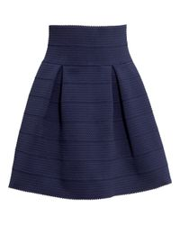 1a8aad4e141 Lyst - H M Textured Skirt in Blue