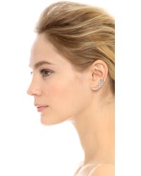 Noir Jewelry - Black Cooper Earrings - Rhodium/clear - Lyst
