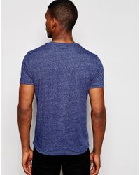 Hilfiger Denim | T-shirt With V Neck In Blue for Men | Lyst