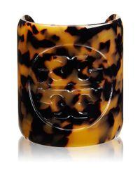Tory Burch - Multicolor Resin Logo Cuff - Lyst