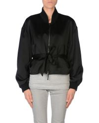 MM6 by Maison Martin Margiela - Black Jacket - Lyst