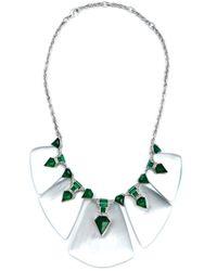 Alexis Bittar | Green Embellished Bib Necklace | Lyst