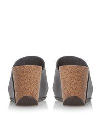 Dune | Black Kimba Mule Wedge Sandal | Lyst
