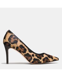 COACH | Brown Smith Pump | Lyst