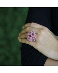 Wendy Yue | Pink Multi Color Sapphire Flower Ring | Lyst