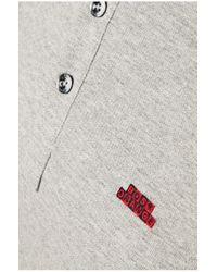 BOSS Orange | Gray Regular-fit Polo Shirt 'prescott' In Cotton for Men | Lyst