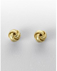 Lord & Taylor | Metallic 18 Kt Gold Plated Knot Stud Earrings | Lyst