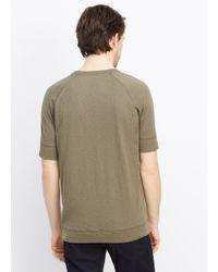 VINCE | Brown Refined Slub Cotton Raglan Sweatshirt Tee for Men | Lyst