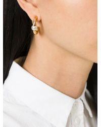 Chloé - Metallic 'Darcy' Pearl Earrings - Lyst