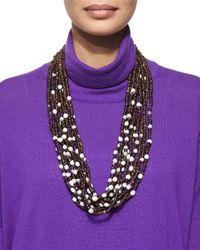 Eskandar | Black Multi-strand Coconut Bead Necklace | Lyst