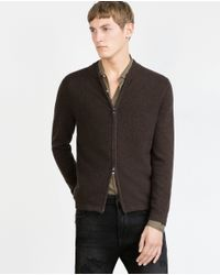 Zara | Brown Cashmere Cardigan for Men | Lyst