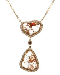 Susan Foster - Metallic Diamond Slice & Yellow-Gold Necklace - Lyst