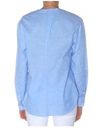 Alexander Wang - Blue Long Sleeve Chambray Shirt - Lyst