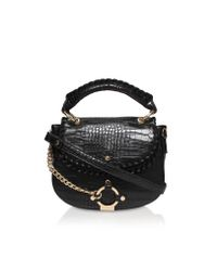 Carvela Kurt Geiger | Black Char Saddle Bag | Lyst