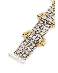 Ela Stone | Metallic 'Blake' Cluster Stud Chain Link Tier Bracelet | Lyst
