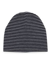 Tory Burch - Blue Reversible Wool Beanie Hat - Lyst