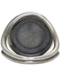 Ann Demeulemeester   Metallic Silver Sundial Ring for Men   Lyst