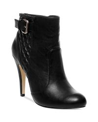 Madden Girl - Black Ariiana Quilted Dress Booties - Lyst