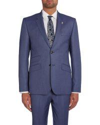 Ted Baker | Blue Modfox Navy Pindot Slim Fit Jacket for Men | Lyst