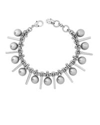 Lucky Brand | Metallic Modern Shine Sphere And Bar Bracelet | Lyst