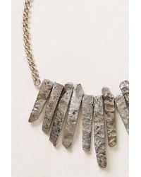 Anthropologie - Metallic Ore-Fringe Bib Necklace - Lyst