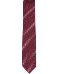 Eton of Sweden | Red Tonal Scales Silk Tie for Men | Lyst