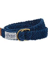 Pink Pony - Blue Fabric Belt for Men - Lyst