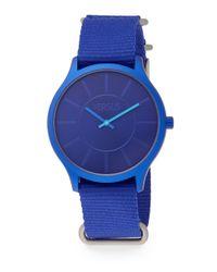 Versus | Less Blue Aluminum Woven Strap Watch | Lyst