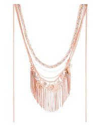 Henri Bendel - Metallic East Hampton Fringe Collar Necklace - Lyst