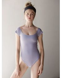 Free People | Purple Neo Bodysuit | Lyst