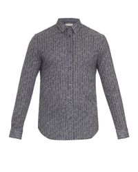 Maison Margiela | Blue Herringbone-print Cotton Shirt for Men | Lyst