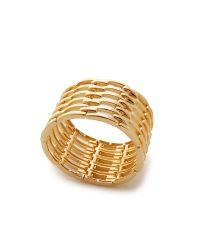 Kenneth Jay Lane - Metallic Open Link Bracelet - Gold - Lyst