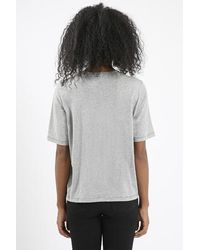 TOPSHOP - Gray Boxy Jersey Tee By Boutique - Lyst