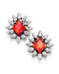 DANNIJO - Pink Neva Crystal Button Earrings - Lyst
