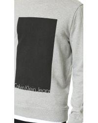 Calvin Klein Jeans - Gray Ck Jeans Hudson Sweatshirt for Men - Lyst