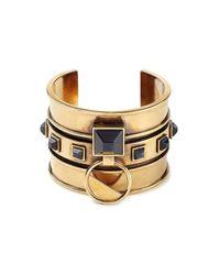 Alexander McQueen | Metallic Embellished Brass Bangle | Lyst