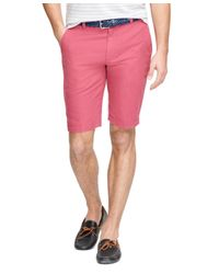 "Brooks Brothers | Pink 11"" Linen And Cotton Bermuda Shorts for Men 