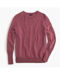 J.Crew | Purple Collection Relaxed Cashmere Pullover Sweater | Lyst