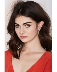 Nasty Gal | Blue Young Turqs Tusk Tunnel Earrings | Lyst