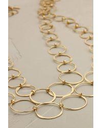 Anthropologie | Metallic Athena Linked Necklace | Lyst