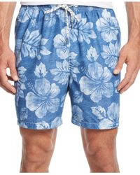Tommy Bahama | Blue Naples Napoli Teal Swim Trunks for Men | Lyst