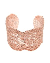 Aurelie Bidermann | Metallic Laser Cut Vintage Lace Cuff | Lyst