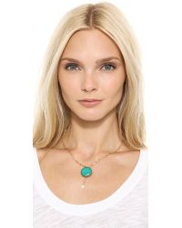 Vanessa Mooney | Blue The Fairytales Necklace Goldturquoise | Lyst