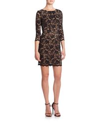 ABS By Allen Schwartz - Black Scalloped-hem Lace Dress - Lyst