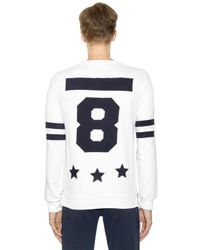 Hydrogen - White Hockey Cotton Sweatshirt With Patches for Men - Lyst