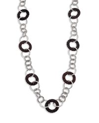 John Hardy | Metallic Palu Rose Wood  Sterling Silver Sautoir Link Necklace | Lyst