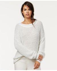 RACHEL Rachel Roy - Gray Metallic Pullover Sweater - Lyst