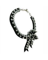 Shourouk | Black Bow Necklace | Lyst